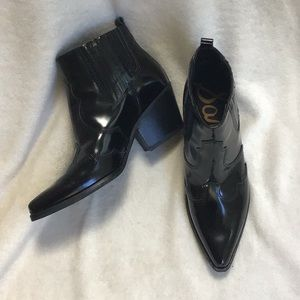 Sam Edelman Winona Leather Booties  NEW condition